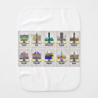 Greater Manchester Burp Cloth