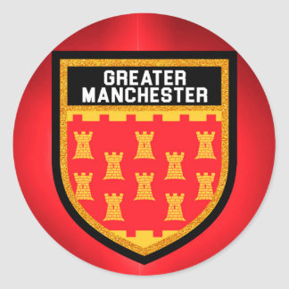 Greater Manchester Flag Classic Round Sticker
