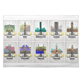 Greater Manchester Placemat