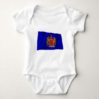 Greater Manchester Waving Flag Baby Bodysuit