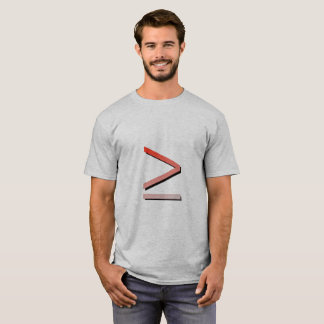 Greater Or Equal Sign Men's Tshirt