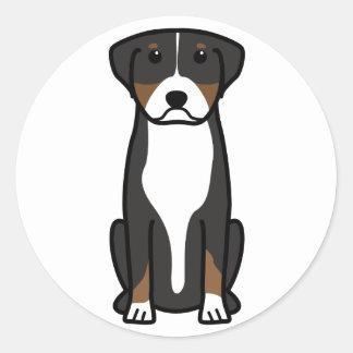 Greater Swiss Mountain Dog Cartoon Classic Round Sticker