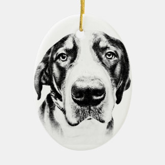 Greater Swiss Mountain Dog Ceramic Ornament