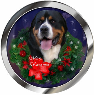 Greater Swiss Mountain Dog Christmas Ornament Acrylic Cut Outs
