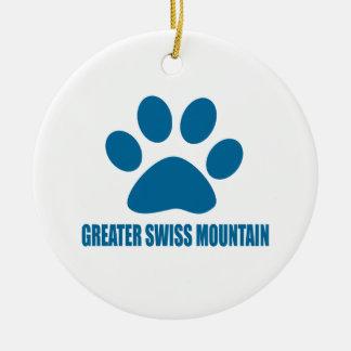 GREATER SWISS MOUNTAIN DOG DOG DESIGNS CERAMIC ORNAMENT