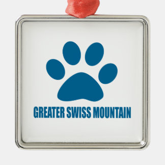 GREATER SWISS MOUNTAIN DOG DOG DESIGNS METAL ORNAMENT