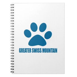 GREATER SWISS MOUNTAIN DOG DOG DESIGNS NOTEBOOKS