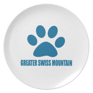 GREATER SWISS MOUNTAIN DOG DOG DESIGNS PLATE
