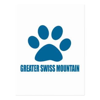 GREATER SWISS MOUNTAIN DOG DOG DESIGNS POSTCARD