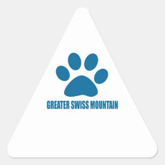 GREATER SWISS MOUNTAIN DOG DOG DESIGNS TRIANGLE STICKER