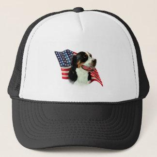 Greater Swiss Mountain Dog Flag Trucker Hat