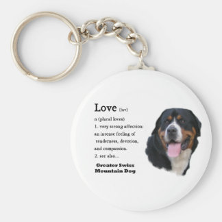 Greater Swiss Mountain Dog Gifts Keychain