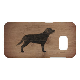 Greater Swiss Mountain Dog Silhouette Rustic Samsung Galaxy S7 Case