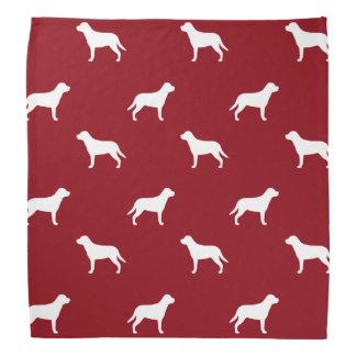 Greater Swiss Mountain Dog Silhouettes Pattern Bandana