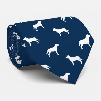 Greater Swiss Mountain Dog Silhouettes Pattern Tie