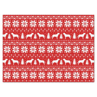 Greater Swiss Mountain Dogs Christmas Pattern Red Tissue Paper