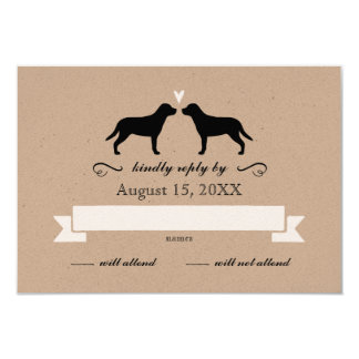 "Greater Swiss Mountain Dogs Wedding RSVP Reply 3.5"" X 5"" Invitation Card"
