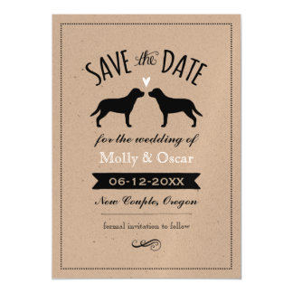 Greater Swiss Mountain Dogs Wedding Save the Date Magnetic Invitations