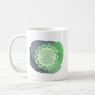 Greater Than Any Obstacle Inspirational Quote Mug