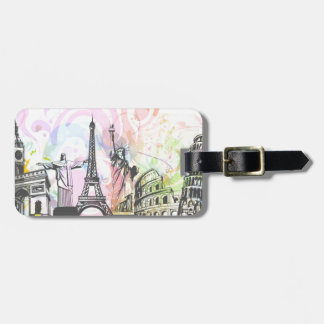 Greatest architectural buildings luggage tag