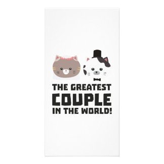 Greatest Cat Couple in the world Zd2n1 Custom Photo Card