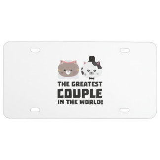 Greatest Cat Couple in the world Zd2n1 License Plate