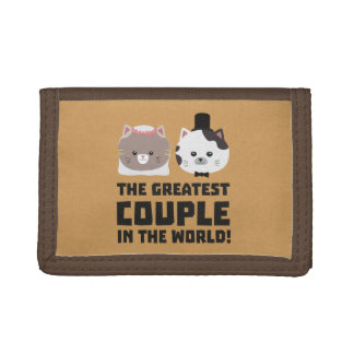 Greatest Cat Couple in the world Zd2n1 Tri-fold Wallet