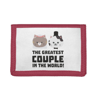 Greatest Cat Couple in the world Zd2n1 Tri-fold Wallets