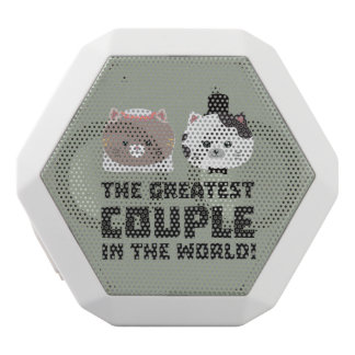 Greatest Cat Couple in the world Zd2n1 White Bluetooth Speaker