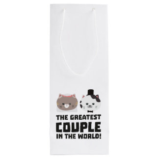 Greatest Cat Couple in the world Zd2n1 Wine Gift Bag
