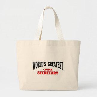 Greatest Church Secretary Jumbo Tote Bag