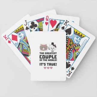 Greatest Couple in the World Its true Z3j3h Bicycle Playing Cards