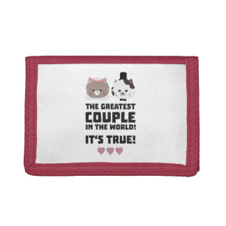 Greatest Couple in the World Its true Z3j3h Tri-fold Wallets