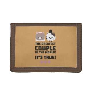 Greatest Couple in the World Its true Z3j3h Trifold Wallets