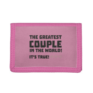 Greatest Couple in the world  Z5rz0 Tri-fold Wallet