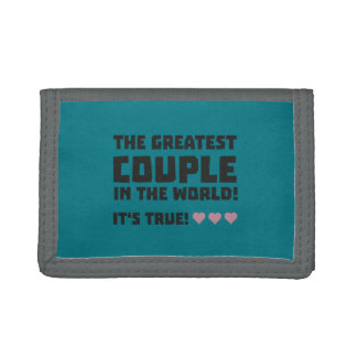Greatest Couple in the world  Z5rz0 Tri-fold Wallets