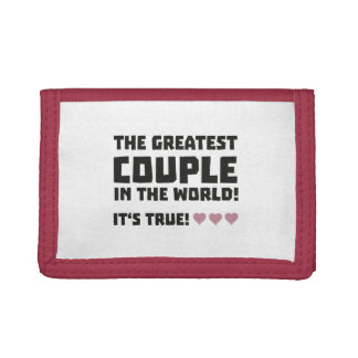 Greatest Couple in the world  Z5rz0 Trifold Wallet