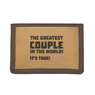Greatest Couple in the world  Z5rz0 Trifold Wallets