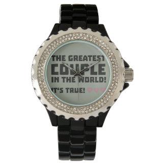 Greatest Couple in the world  Z5rz0 Wrist Watch