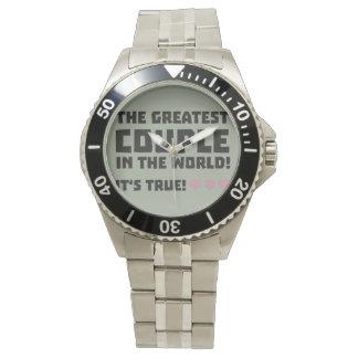 Greatest Couple in the world  Z5rz0 Wristwatch