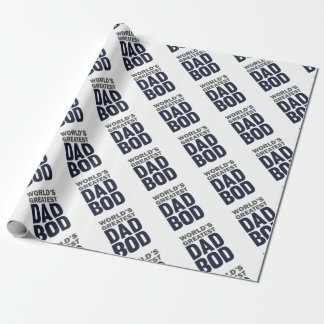 Greatest Dad Bod Wrapping Paper