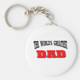 Greatest dad keychain