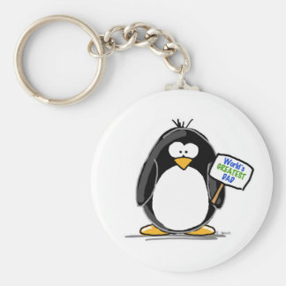 Greatest Dad Penguin Keychain