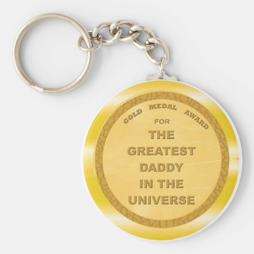 Greatest Daddy in the Universe Key Chain