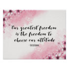 Greatest Freedom Quote Art print