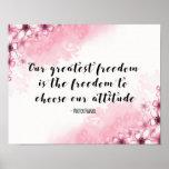 Greatest Freedom Quote Art print