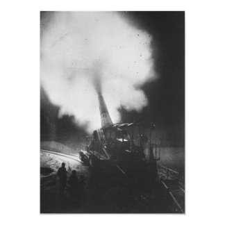 Greatest French Railway Gun 320mm World War I Card