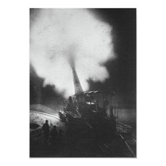 "Greatest French Railway Gun 320mm World War I 5"" X 7"" Invitation Card"