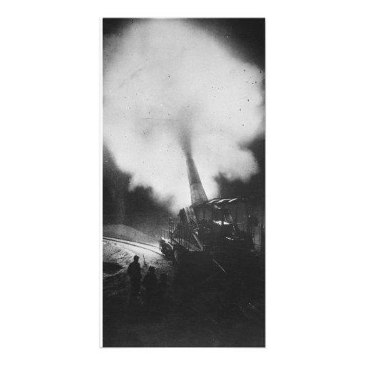 Greatest French Railway Gun 320mm World War I Photo Card