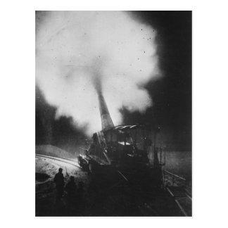 Greatest French Railway Gun 320mm World War I Postcard